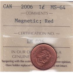 2006 Magnetic One Cent