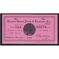Ten Cents Grand River Pulp & Lumber Co.