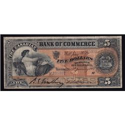 Canadian Bank of Commerce $5, 1907