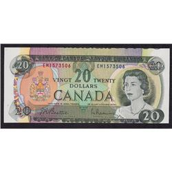 ERROR NOTE - Bank of Canada $20, 1969 Cut out of register