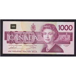 Bank of Canada $1000, 1988 Replacement