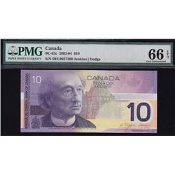 Bank of Canada $10, 2003-04