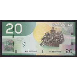 Bank of Canada $20, 2004- Million Numbered Note