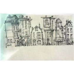 "Kelis ""Get Along With You"" Music Video Original Building Concept Drawing"