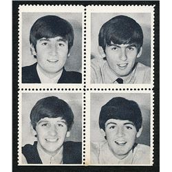 The Beatles 1964 Black & White Photo Stamp Set of (4) with John Lennon, Paul McCartney, George Harri
