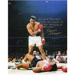 Earnie Shavers Signed 8x10 Photo of Muhammad Ali Over Sonny Liston with Extensive Inscription Refere