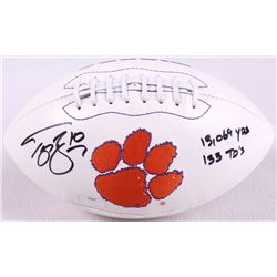 "Tajh Boyd Signed Clemson Logo Football Inscribed ""13,069 YDS"" & ""133 TD'S"" (Radtke COA)"
