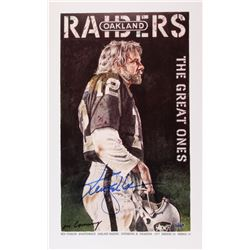 "Ken Stabler Signed Raiders ""The Great Ones"" 15.5"" x 25"" Lithograph (Stabler LOA)"