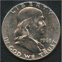 1963 Franklin Silver Half Dollar