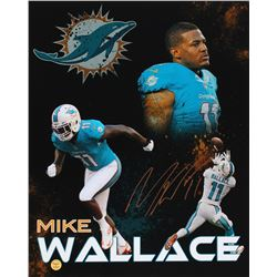 Mike Wallace Signed Dolphins 16x20 Photo (Wallace Hologram)