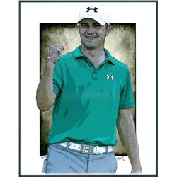 Jordan Spieth Limited Edition 11x14 Signed Art Print by Jeff Lang (Artist Proof #3/3)