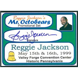 "Reggie Jackson Signed LE ""Mr. Octobears"" Promo Card (HMG Hologram)"