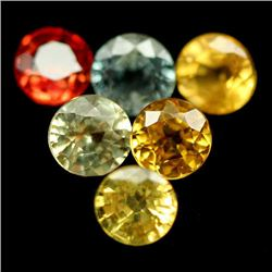 LOT OF 6.21 CTS OF FANCY COLOR SONGEA AFRICAN SAPPHIRES