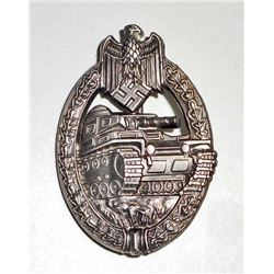 GERMAN NAZI ARMY SILVER TANK ASSAULT BADGE
