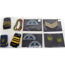 MILTARY ARM BANDS AND CRESTS