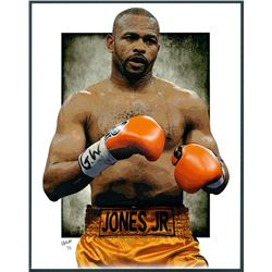 Roy Jones Jr. Limited Edition 11x14 Signed Art Print by Jeff Lang (Artist Proof #3/3)