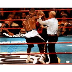 Mike Tyson Signed 16x20 Photo vs Evander Holyfield (JSA COA)