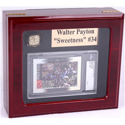 Walter Payton Bears High Quality Ring With Piano Lacquer Wooden Display Box & 2015 Leaf Executive Co