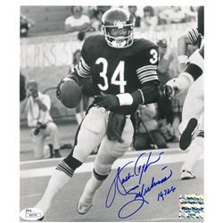 "Walter Payton Signed Bears 8x9 Photo Inscribed ""Sweetness"" & ""16,726"" (Payton COA & JSA COA)"