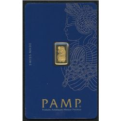 1 Gram PAMP Suisse Fortuna Veriscan Gold Bar in Assay Card