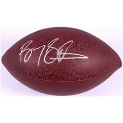 Barry Sanders Signed Football (JSA COA & Schwartz)
