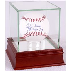 "Ozzie Smith Signed OML Baseball Inscribed ""The Wizard of Oz"" with High Quality Display Case (PSA COA"