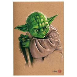 """Yoda"" Star Wars Limited Edition 8"" x 12"" Signed Comic Art Print by Thang Nguyen #5/20 (PA COA)"
