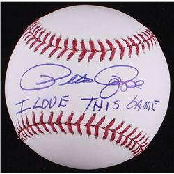 "Pete Rose Signed OML Baseball Inscribed ""I Love This Game"" (JSA COA)"