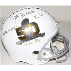 "Jack Lambert Signed ""Super Bowl on The 50"" Full-Size Helmet Inscribed ""4x SB Champs!"" & ""HOF '90"" (J"