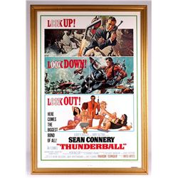"Original James Bond 007 ""Thunderball"" 30x43 Custom Framed Movie Poster Display"
