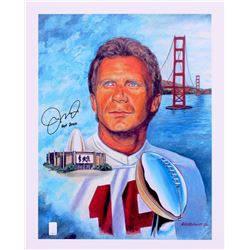 "Joe Montana Signed 49ers 16x20 Lithograph Inscribed ""HOF 2000"" (Montana Hologram)"