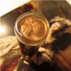 1969 S Gem BU Roll of Lincoln Cents in a plastic tube.