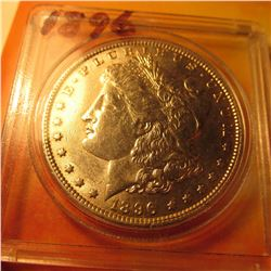 1896 P Morgan Silver Dollar. Brilliant Unc.