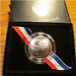 "2014 D ""Baseball Hall of Fame"" Commemorative Dollar. BU. Cupped design. In Government issued holder."