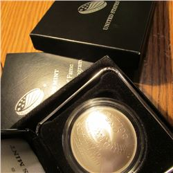 "2014 ""Baseball Hall of Fame"" Commemorative Dollar. .900 fine Silver."