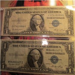 (2) Series 1935 One Dollar Silver Certificates.