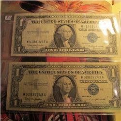 (2) Series 1957 One Dollar Silver Certificates.