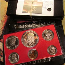(4) 1974 S U.S. Proof Sets with Eisenhower Dollars. Original as issued.