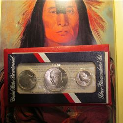 1976 S U.S. Three-Piece U.S. Mint Set. Original as issued in red pack.