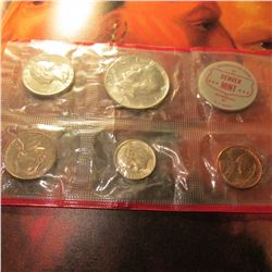 1964 Denver Red Pack of a U.S. Mint Set. (5 pcs. Plus Denver token).