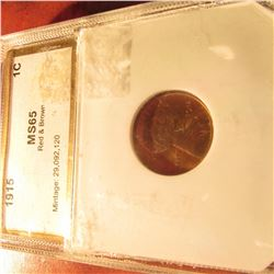 1915 P Lincoln Cent. PCI slabbed MS 65 Red & Brown.