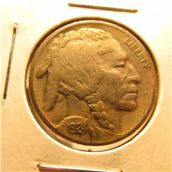 1924 P Buffalo Nickel. Near Full horn.