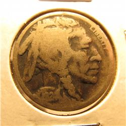 1924 D Buffalo Nickel. G-4. Scarce date.