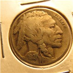 1927 D  Buffalo Nickel. Near Full horn.