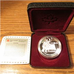 1997 Canada .925 fine Silver Dollar 25th Anniversary of the Canada/USSR Hockey Series of 1972 Proof