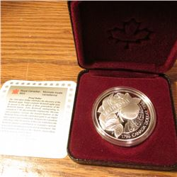 "1796-1996 Canada ""Discovery of the McIntosh Apple""  .925 fine Silver Proof Dollar. Original as issue"