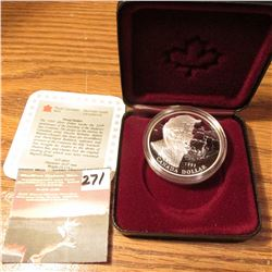 "1995 Canada ""325th Anniversary of the founding of the Hudson Bay Company"" .925 fine Silver Proof Dol"