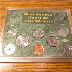 "Plaque of ""Odd Shaped Coins of the World"". (10 pcs.). BU."