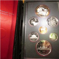 1981 Trans Royal Canadian Proof Set with Silver Dollar as well as Voyageur Dollar. Original as issue