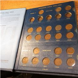 1920-1969 Partial Set of Canada Cents in a Whitman Album. Missing only the 1922-26.